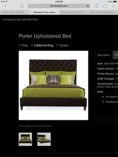 "Bernhardt cal king bed purchased at Charles Ray. Headboard is 70"" tall!"