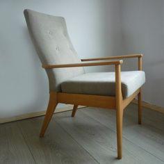 1960's Parker Knoll Chairs PK 988 restored by www.florrieandbill.com Upholstered in Villa Nova Geneva Vintage.