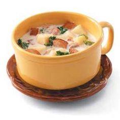 Kielbasa Potato Chowder Recipe - this soup is *amazing*