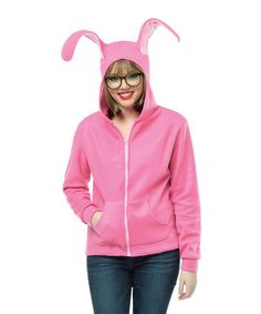 Another great find on #zulily! Pink Bunny Zip-Up Hoodie & Glasses - Adult & Plus #zulilyfinds