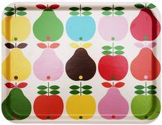 Dienblad Irma appels en peren   Dienbladen Koloni Stockholm   kleuroptafel