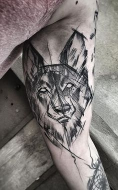 Inez Janiak wolf tattoo