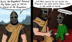 Funny The Elder Scrolls: Skyrim memes Elder Scrolls Games, Elder Scrolls Skyrim, The Elder Scrolls, Video Game Logic, Video Games Funny, Funny Games, Skyrim Funny, Skyrim Comic, Tell My Story