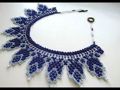#МК -Колье из бисера. Бисероплетение. A beaded necklace. Beading. - YouTube