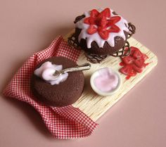 Chocolate Cake and Strawberries by PetitPlat - Stephanie Kilgast, via Flickr