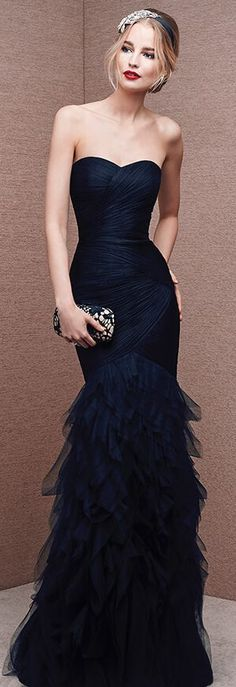 Long Prom Dresses,mermaid party Dresses,sexy prom gowns,modest black tulle prom dress