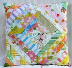 vintage linens throw pillow