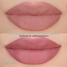 NYX Liquid Suede : one of these lipstick colors (sandstorm or soft spoken( #Lipcolors