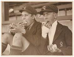 Schoolboy fans eat cake, c. 1930, by Sam Hood | Flickr - Photo Sharing!