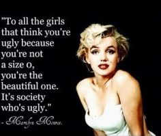 All women are beautiful, don't let your size tell you otherwise.