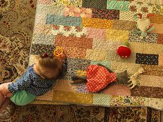 Cute quilt idea! I think I will use this pattern for my scrap quilt!