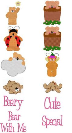 "Don't miss this free collection of embroidery designs from Bunnycup Embroidery.   It's called ""Beary Special""."