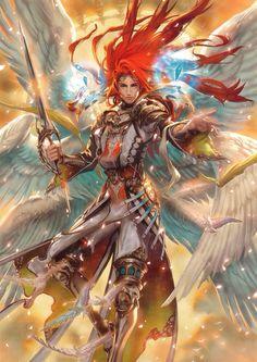 Angel pelo rojo