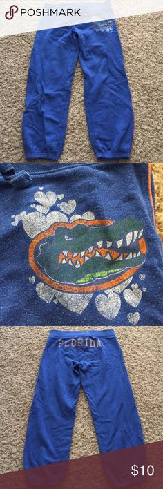 Victoria's Secret PINK size S FL Gator sweat pants Victoria's Secret PINK size S University of Florida blue sweat pants in good condition PINK Victoria's Secret Pants