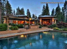 Living work of Art in Meadow Vista, CA #luxury #homes #house #landscaping #landscape #pool #patio #design
