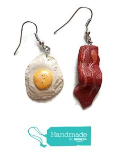Bacon and Egg Fake Food Earrings Dangle Realistic Looking Food Jewelry from Fake Food USA https://www.amazon.com/dp/B01H63GONK/ref=hnd_sw_r_pi_dp_2Xuzxb85AKX9B #handmadeatamazon