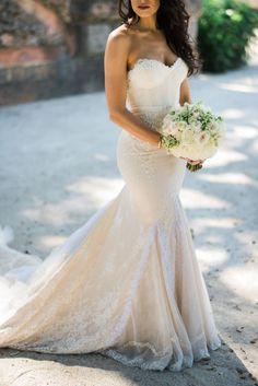 a real bride wearing inbal dror