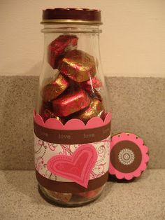valentine's day (I need some of these starbucks bottles. wish I knew people who drank them:) Valentine Treats, Valentines Day Party, Valentine Day Love, Valentine Day Crafts, Valentine Decorations, Valentine Cards, Starbucks Bottle Crafts, Starbucks Frappuccino Bottles, Homemade Gifts