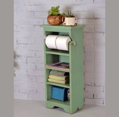 ($140 multiple colors/finish) NEW - Handmade Sturdy Wooden Bathroom Tower in Color of Your Choice - SHIPPING INCLUDED in Price - Toilet Paper Holder - Bathroom Organizer