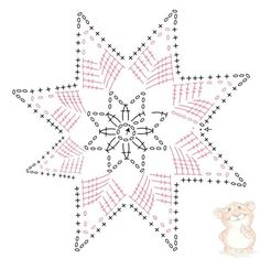 Discover thousands of images about ergahandmade: Crochet Snowflake + Free Pattern Step By Step + Diagram Crochet Snowflake Pattern, Christmas Crochet Patterns, Crochet Motifs, Crochet Snowflakes, Crochet Diagram, Crochet Stitches Patterns, Crochet Doilies, Crochet Flowers, Crochet Angels