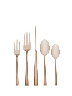 Malmo Rose Gold 5 Piece Place Setting  | cutlery . Besteck . couvert | Design @ Kate Spade |