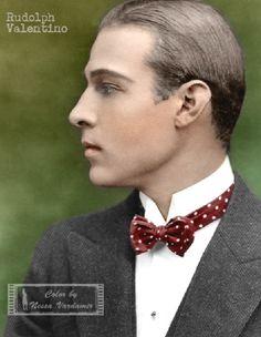 Kolorowy Świat Nessy czyli... Stare zdjęcia w kolorze: Włoski kochanek Poli Negri...czyli Rudolfo Alfonso...