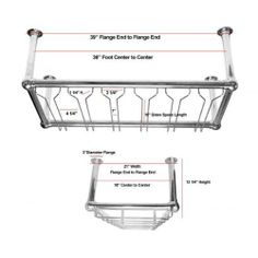 "6 Channel Stock Commercial Glass Rack - Chrome by KegWorks. $697.00. Made of chrome.. Dimensions: 18""D x 12""H (from the ceiling to the very bottom of the rack.). Six channels for plenty of storage.. This overhead stemware rack is exactly what you see in your local pub.. Easy to hang with 4 posts (each equipped with a flange that attaches to your ceiling.). This chrome glass storage rack is identical to the commercial glass racks you see overhead in your favorite b..."