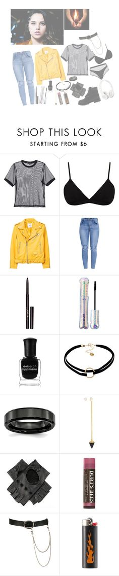 """""""katrina"""" by we-are-the-poisoned-youth ❤ liked on Polyvore featuring 3x1, Helmut Lang, Agent Provocateur, MANGO, Stila, tarte, Deborah Lippmann, WithChic, Vita Fede and Timberland"""