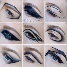 graphic Goth Makeup, Makeup Art, Beauty Makeup, Face Makeup, Makeup Goals, Makeup Inspo, Makeup Inspiration, Catwalk Makeup, Creative Eye Makeup