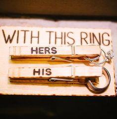 Ringübergabe in der Kirche