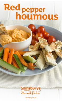 Oooh houmous with a twist of red pepper? Yes please. The kids will love dipping carrots and pitta into this tasty dip.