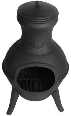 Zeer handzame zwarte gietijzeren terras-/buitenkachel van Esschert. Met deze robuuste kachel kunt u de kille zomeravonden tot in de late uurtjes verlengen. Dit type kachels staat er om bekend dat ze veel warmte afgeven. De bijgeleverde deksel voor op de pijp voorkomt inregenen. Onze prijs € 89,95