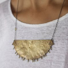 Luna Breastplate Necklace by Annika Kaplan for A Mano