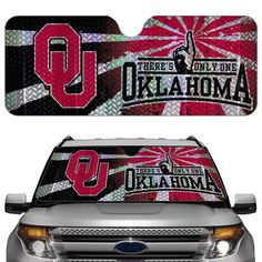 Oklahoma Sooners Auto Sun Shade