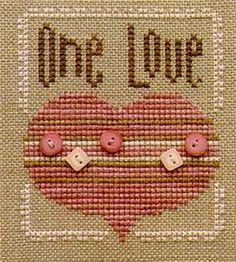 One Love Cross Stitch Pattern