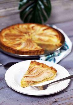 Mandulás-körtés pite   Street Kitchen Cake Cookies, Apple Pie, Quiche, Sweets, Cooking, Breakfast, Recipes, Food, Cakes