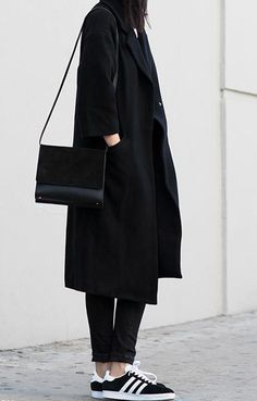 All black, Adidas.