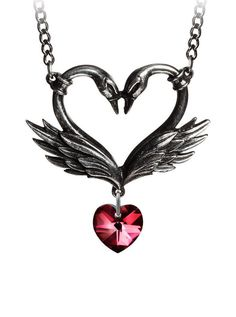 """The Black Swan Romance"" Necklace by Alchemy of England 