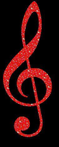 G Clef Red Glitter Graphic MySpace Glitter Graphic Comment