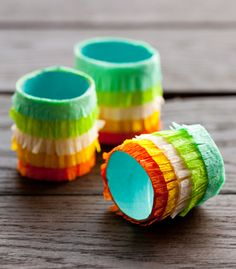 #DIY fringed fiesta napkin rings.