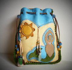 SEA VIXEN Mermaid deerskin leather Medicine Bag, Spirit Pouch with Hawaiian beach glass, pearls