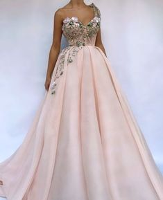 One-shouldered pink prom dress,gentle evening dress 2018 GR698 from Ulass