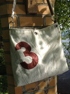 Sail bag by Rough Element made of reclaimed sailcloth