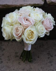 Pink and cream rose wedding bouquets are one of our most popular choices here at Passion for Flowers. Ivory Rose Bouquet, Rose Wedding Bouquet, Pink Bouquet, Wedding Flowers, Wedding 2015, Fall Wedding, Cream Wedding, Wedding Ideas, Calla Lily Flowers