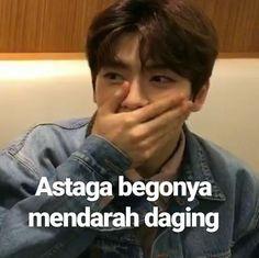 Memes Funny Faces, Funny Kpop Memes, Cute Memes, K Meme, Seventeen Memes, Funny Boy, Cartoon Jokes, Jaehyun Nct, Mood Pics