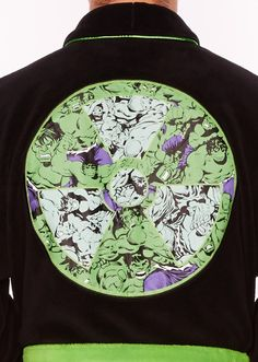 Marvel Hulk Radioactive Glow in the Dark Adult Fleece Bathrobe  589e4a866