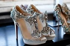 marchesa and leboutin collaboration shoe. sparkle and height? yes please.