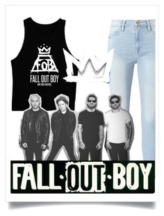 """Favorite Band: Fall Out Bou (right now)"" by daiserz ❤ liked on Polyvore featuring Frame"