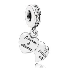 "This sweet sterling silver locket is the perfect gift for showing your wife how much you love and appreciate her.  A heart dangling from a bale of sparkling cubic zirconia stones is engraved with the words ""forever and always"" on one side, and ""My beautiful wife"" on the other, a charming reminder of your love for her she is sure to cherish.<br><br> <b> Style</b> 791524CZ"