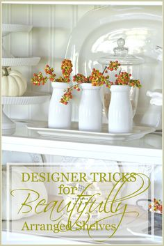 DESIGNER TRICKS FOR BEAUTIFULLY ARRANGED SHELVES These tricks will really help!